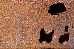 Oxiderad metallyttersida som gör en abstrakt textur Royaltyfri Bild