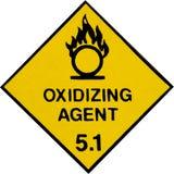 Oxidierendes Warnzeichen Lizenzfreie Stockfotos