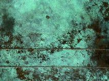 Oxidierte kupferne Beschaffenheit Lizenzfreie Stockfotografie