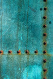 Oxidized copper plate surface texture Royalty Free Stock Photo