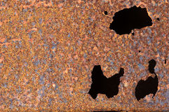Oxidized metal surface making an abstract texture Royalty Free Stock Image