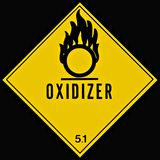 Oxidizer Teken royalty-vrije stock fotografie