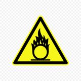Warning sign Vector illustration. Oxidizing Warning sign. Hazard symbols Stock Images