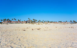 Oxnard如被看见从曼德勒海滩,加利福尼亚 免版税库存照片
