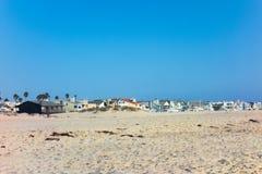 Oxnard海边,曼德勒海滩沙子,加州 免版税库存照片