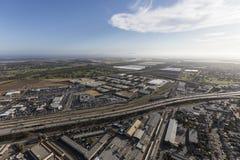 Oxnard California 101 Freeway Aerial. Aerial view of the Ventura 101 Freeway in Oxnard, California royalty free stock photography