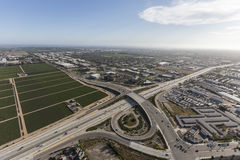 Oxnard California Ventura Freeway Aerial Immagine Stock