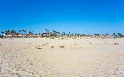 Oxnard come visto dalla spiaggia di Mandalay, California Fotografie Stock Libere da Diritti