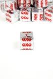 OXO кубы стоковая фотография rf