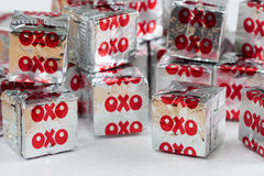 Oxo beef stock cubes in wrapping Stock Images