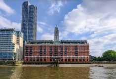 Oxo Tower building on the southbank, London. stock photos