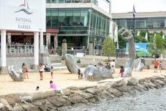 OXON-HÜGEL, MD - 19. JUNI 2015: Skulptur am nationalen Hafen am 24. August 2013 an Oxon-Hügel wecken, MD USA Ein berühmtes 70-Fuß Stockbilder