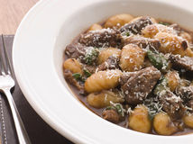Oxtail Braised in Red Wine with Gnocchi Stock Photography