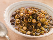 Oxtail and Chickpea Winter Soup Royalty Free Stock Image