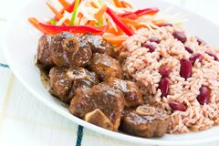 Oxtail Curry with Rice Stock Images