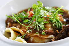 Oxtail ravioli Stock Photography