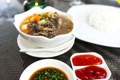 Oxtail Soup Meal Royalty Free Stock Image