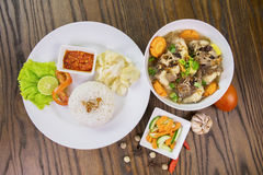 Oxtail soup and rice royalty free stock photo