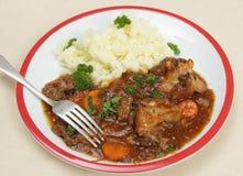 Oxtail stew γεύμα με το δίκρανο Στοκ εικόνες με δικαίωμα ελεύθερης χρήσης