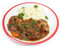 Oxtail stew γεύμα πέρα από το λευκό Στοκ εικόνες με δικαίωμα ελεύθερης χρήσης