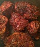 Oxtails μαγείρεμα Στοκ φωτογραφία με δικαίωμα ελεύθερης χρήσης