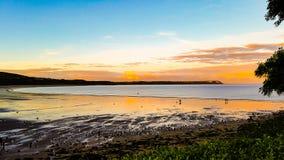 Oxwich海湾威尔士 免版税库存照片