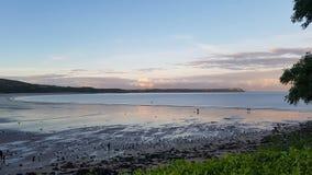Oxwich海湾威尔士 免版税图库摄影