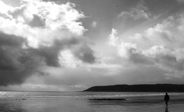 Oxwich海湾, Gower,威尔士 图库摄影