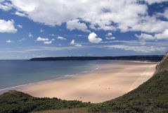 Oxwich bay - Gower peninsula. Wales Royalty Free Stock Photo