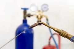 Oxy-Acetylengas Lizenzfreie Stockfotografie