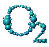 Oxygen. 3D oxyben bubble in the shape of O2 vector illustration