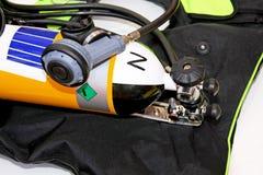 Oxygen. Bottle for emergency response rescue unit royalty free stock photos