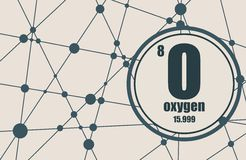 Oxygen chemical element. Stock Photos