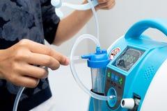 Free Oxygen Concentrator Bar Gauge Measurement Liter Stock Images - 158610254