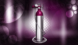 Oxygen cylinder Royalty Free Stock Photo