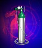 Oxygen cylinder vector illustration