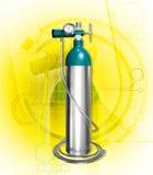 Oxygen cylinder stock illustration