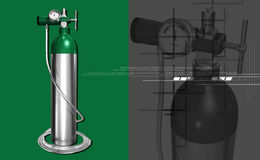 Oxygen cylinder Royalty Free Stock Photos