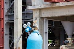 Oxygen cylinder Stock Photo