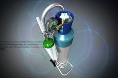 Oxygen Cylinder Royalty Free Stock Images