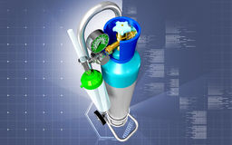 Oxygen Cylinder Royalty Free Stock Photography