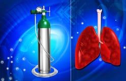 Oxygen cylinder royalty free illustration