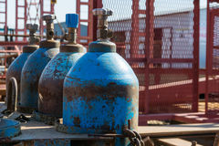 Oxygen cylinder production Royalty Free Stock Photography