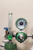 Oxygen cylinder and regulator gauge Stock Photo
