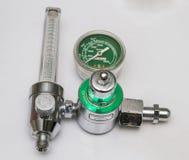 Oxygen flow meter. stock photo