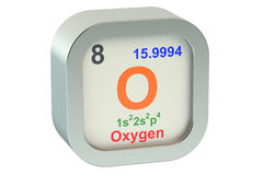 Oxygen icon 3d Stock Images