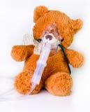 Oxygen mask on a bear Stock Photography
