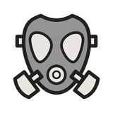 Oxygen Mask. Oxygen, mask, firefighter icon vector image. Can also be used for firefighting. Suitable for use on web apps, mobile apps and print media Stock Photography