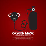 Oxygen Mask With Tank Stock Photo