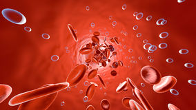 Oxygen molecules floating in the blood stream Royalty Free Stock Image